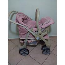 Carrinho De Bebê Completo Classe 1 Angel Rosa Burigotto