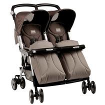 Carrinho De Bebê Para Gêmeos Aria Twin Mokka - Peg Pérego