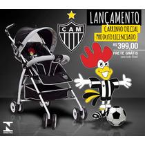 Carrinho De Bebê Atlético Mineiro Oficial - Frete Grátis