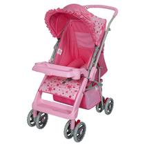 Carrinho De Bebê Thor Rosa Laço New Tutti Baby