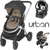 Carrinho Bebe Travel System Urban Chicco Black +color Pack
