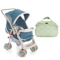 Carrinho De Bebê Pegasus E Bolsa Hug M - Verde Galzerano