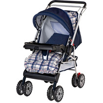 Carrinho De Bebê Thor Azul - Estilo Berço - Tutti Baby