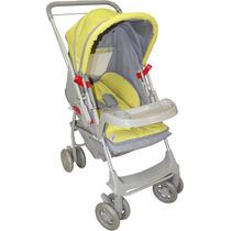 Carrinho De Bebê Milano Reversível Cinza Galzerano