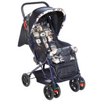 Carrinho De Bebê Funny Com Encosto Reclinável Azul