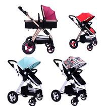 Carrinho Bebê 3 Em 1 Reclinavel Completo 0-36 Meses Cores