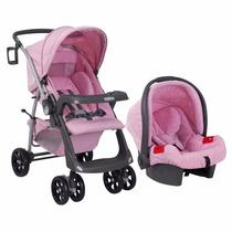 Carrinho De Bebe Com Bebê Conforto Burigotto Travel Menina
