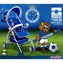 Carrinho De Bebê Cruzeiro Oficial - Frete Grátis
