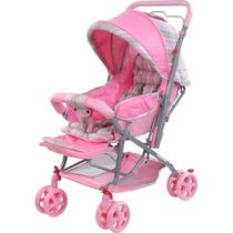 Carrinho Berço Pop Para Bebê Rosa - Dardara