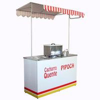 Barraca Buffet Cachorro Quente Hot Dog E Pipoca 1 Pipoqueira