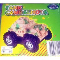 Carrinho Ficção Tank Cambalhota Bate E Volta Frete Grátis