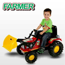 Trator Infantil A Pedal Farmer Big - Luzes E Buzina - Biemme