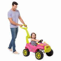 Carro Passeio Bebe Empurrador Pedal Smart Rosa - Bandeirante