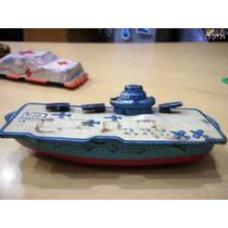 Navio Torpeideiro De Lata -brinquedo Antigo -de Metal-raro