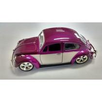 Miniatura Fusca Beetle Rebaixado C/ Rodas Esportivas 1:32