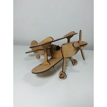 Avião Madeira Mdf Brinquedo Corte A Laser 3d