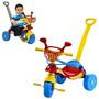 Carrinho Triciclo Criança Passeio Com Haste Completo