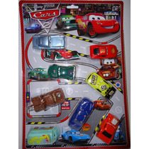 Kit Carros 8 Miniaturas Disney Macqueem Filme Carros 2
