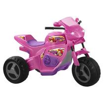 Moto Elétrico Infantil Meg Turbo Rosa 1230 - Magic Toys