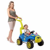 Carro Passeio Bebe Empurrador Pedal Smart Azul - Bandeirante