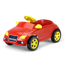 Carrinho Infantil De Pedalar Com Buzina Audi Vermelho+ Frete