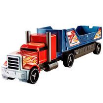 Hot Wheels Caminhão Batida C/ Veículo Azul Vermelho