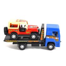 Miniatura Em Plástico - Jeep E Caminhão-azul