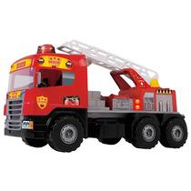 Caminhão Infantil Super Bombeiro C/ Sons E Luzes Magic Toys
