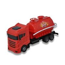 Caminhão De Bombeiro Plástico Brinquedo Espirra Lança Agua