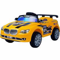 Carro Elétrico Controle Remoto Amarelo Suporta 25kg(6anos)