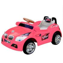 Carrinho Eletrico Rosa Miniway Som Luzes Ronco Do Motor E Ré