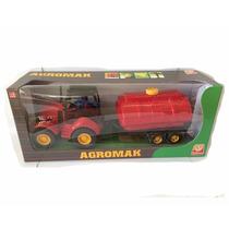 Trator Agromak - Vermelho + Tanque De Água - Silmar