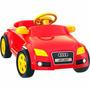 Carrinho Audi Att Vermelho Unissex Com Pedal - Homeplay