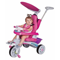 Triciclo Infantil Fit Trike Super Rosa Estofado - Magic Toys