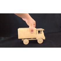 Brinquedo Carrinho/caminhão Cofrinho Articulado - Mdf Cru