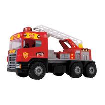 Caminhão Grande 72 Cm Super Bombeiro Resgate - Magic Toys