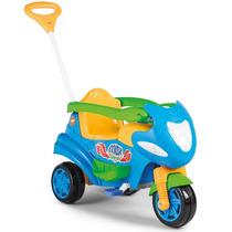Triciclo Passeio C/ Pedal Max Azul 2 Em 1 - Calesita