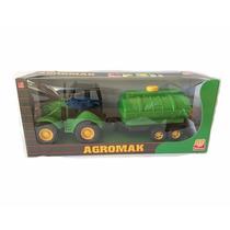 Trator Agromak - Verde + Tanque De Água - Silmar Brinquedos