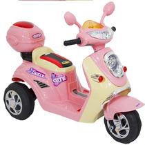 Mini Lambreta, Moto Para Crianças - Elétrica - 6v - Rosa