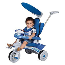 Triciclo Fit Trike Azul Som E Luz Com Estofado - Magic Toys
