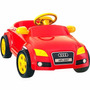 Mini Veiculo Com Pedal Vermelho Audi - Homeplay