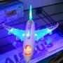 Avião Bate E Volta Com Som E Luzes 20 Cm Brinquedo Infantil