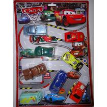Kit Carros 8 Miniaturas Disney Mcqueen Filme Carros 2 Macque