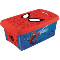 Caixa Organizadora P/ Brinquedos Homem Aranha