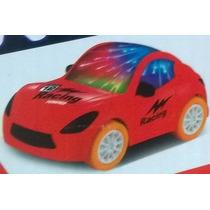 Mini Carro Luz 3d E Som Bateria Pisca Led Brinquedo Criança
