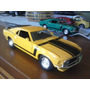 Carro Miniatura Mustang Ford 1970 1:24 Amarelo E Verde