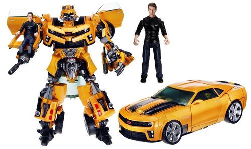 Carro Robo Transformers Bumblebee E Sam - Human Alliance Lv3