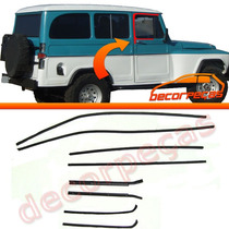 Kit Canaletas Pestanas Vidro Porta Rural Pick-up Willys F75