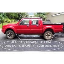 Kit Alargador Paralama L200 00/06 Gls Quadrada 4 Peças
