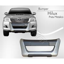 Bumper Hilux Cabine Simples Dupla 2012 13 14 Prata Metalico
